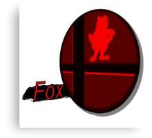 Smash Bros. Fox Tag Canvas Print