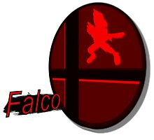 Smash Bros. Falco Tag by goronmask