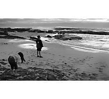 Ali & Nilu at the beach Photographic Print