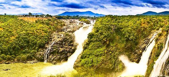 South India - Jog Falls in the monsoon season - 1 by Geoffrey Thomas