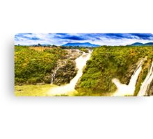 South India - Jog Falls in the monsoon season - 1 Canvas Print