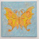 Orange Butterfly by Nursery Wall Decor