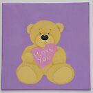 I Love You Bear by Nursery Wall Decor