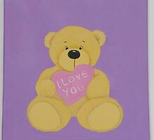 I Love You Bear by Nursery Wall Decor