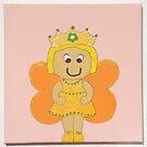 Orange Fairy  by Nursery Wall Decor
