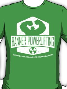 The Incredible Hulk - Banner Powerlifting White T-Shirt