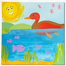Duck and Fish by Nursery Wall Decor