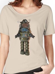 Billiken Shokai Tin Wind Up Robby the Robot Women's Relaxed Fit T-Shirt