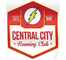 The Flash - Central City Running Club Color Poster