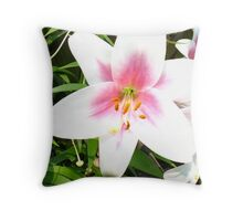 Blinded Lily Throw Pillow