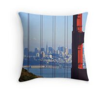 San Francisco, My City by the Bay. Throw Pillow