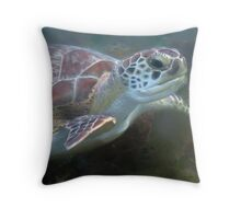 Prehistoric Face - Hawksbill Turtle Throw Pillow