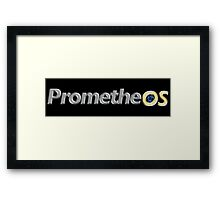 PrometheOS official merchandise of the Linux desktop Operating System - Open Source Software Framed Print