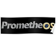 PrometheOS official merchandise of the Linux desktop Operating System - Open Source Software Poster