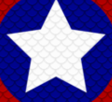 Scale Captain America Shield Sticker