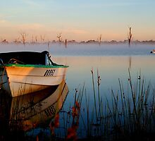 Sun-up on Lake Fyans by Joe Mortelliti