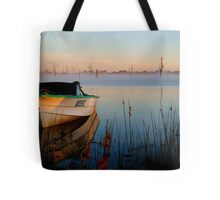 Sun-up on Lake Fyans Tote Bag
