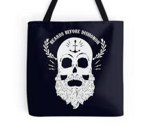 Beards Before Dishonor - White Tote Bag