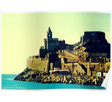 St. Peter's Church in Portovenere, Liguria, Italy Poster