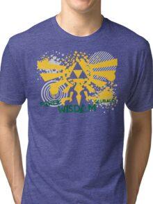 Power, Wisdom, Courage Street Art Tri-blend T-Shirt