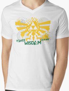 Power, Wisdom, Courage Street Art Mens V-Neck T-Shirt