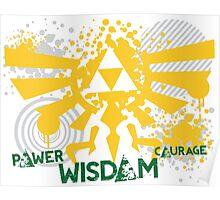 Power, Wisdom, Courage Street Art Poster