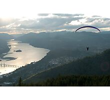 Paragliding the gorge Photographic Print