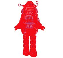 Red Robot Photographic Print