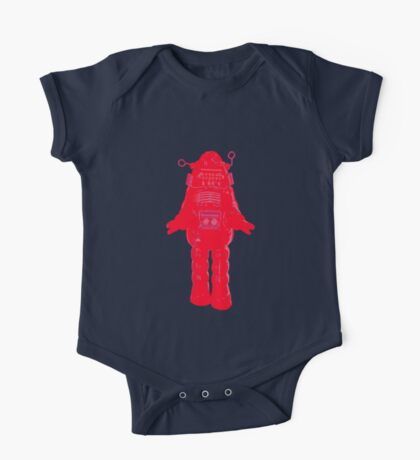 Red Robot One Piece - Short Sleeve