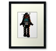 Cartoon robot Framed Print