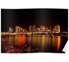 Lights by Night - Brisbane CBD Poster