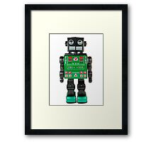 Smoking Kaiju Robot Framed Print