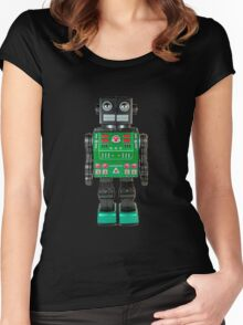 Smoking Kaiju Robot Women's Fitted Scoop T-Shirt