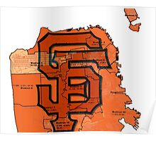 San Francisco Giants Map Poster