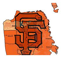 San Francisco Giants Map Photographic Print
