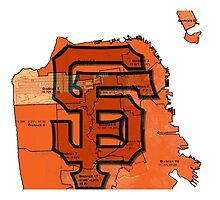 San Francisco Giants Map by dswift
