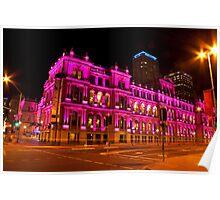 The Pink Treasury - Brisbane CBD Poster