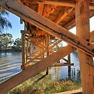 Bridge over the Darling Anabranch by Peter Hammer