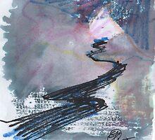 WINTER EVENING ROAD - SKETCH(C2015) by Paul Romanowski