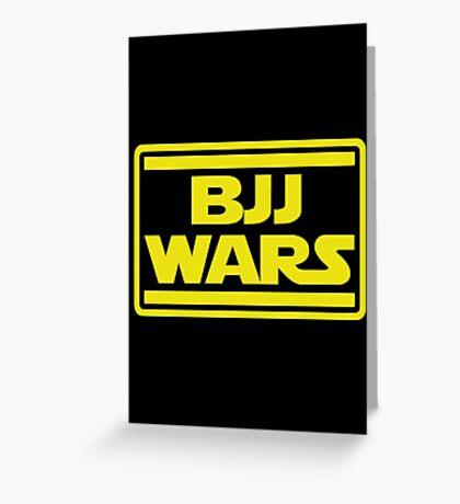 Brazilian Jiu Jitsu Wars Greeting Card