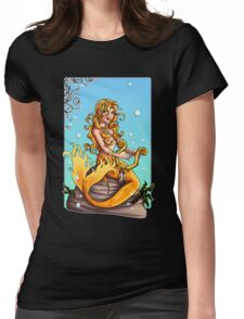 Golden Mermaid II Womens Fitted T-Shirt