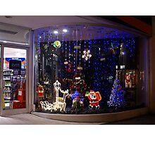 Christmas Window Display Photographic Print