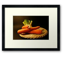 plate with fennel and carrots Framed Print