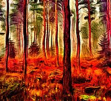 Magic Forest Fine Art Print by stockfineart