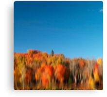Colorful abstract fall nature reflected scenery art photo print Canvas Print