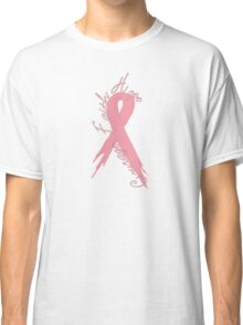 Breast Cancer Courage Faith Hope Ribbon  Classic T-Shirt