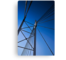 Suspension Bridge Detail  - In Cartoon Rendition Canvas Print