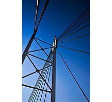 Suspension Bridge Detail  - In Cartoon Rendition Photographic Print