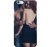 Artistic sensual portrait of a couple embracing art photo print iPhone Case/Skin