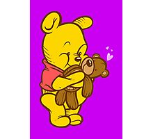 Pooh And Teddy Photographic Print